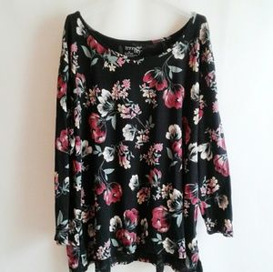 Terra & Sky Floral Tunic Size 3X